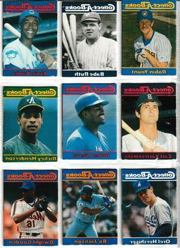 1990 COLLECT A BOOKS RUTH, GEHRIG, AARON, CLEMENTE, RYAN, GR