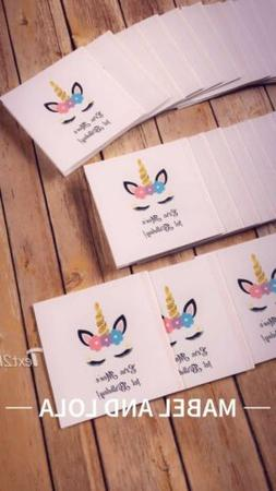 8 Personalized Unicorn Themed Birthday Party Favors Kids Cus