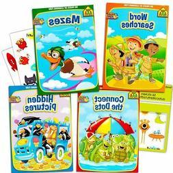 School Zone Activity Book Set Kids-- 4 Books Mazes, Connect