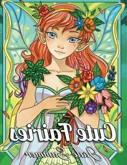 cute fairies adult coloring book by jade