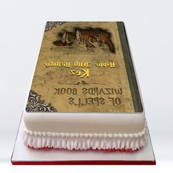 Harry Potter Spell Book PERSONALISED MESSAGE EDIBLE Icing Ca