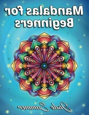 mandalas for beginners adult coloring book by