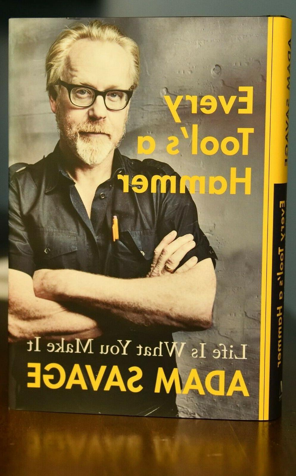 new adam savage book signed every tool