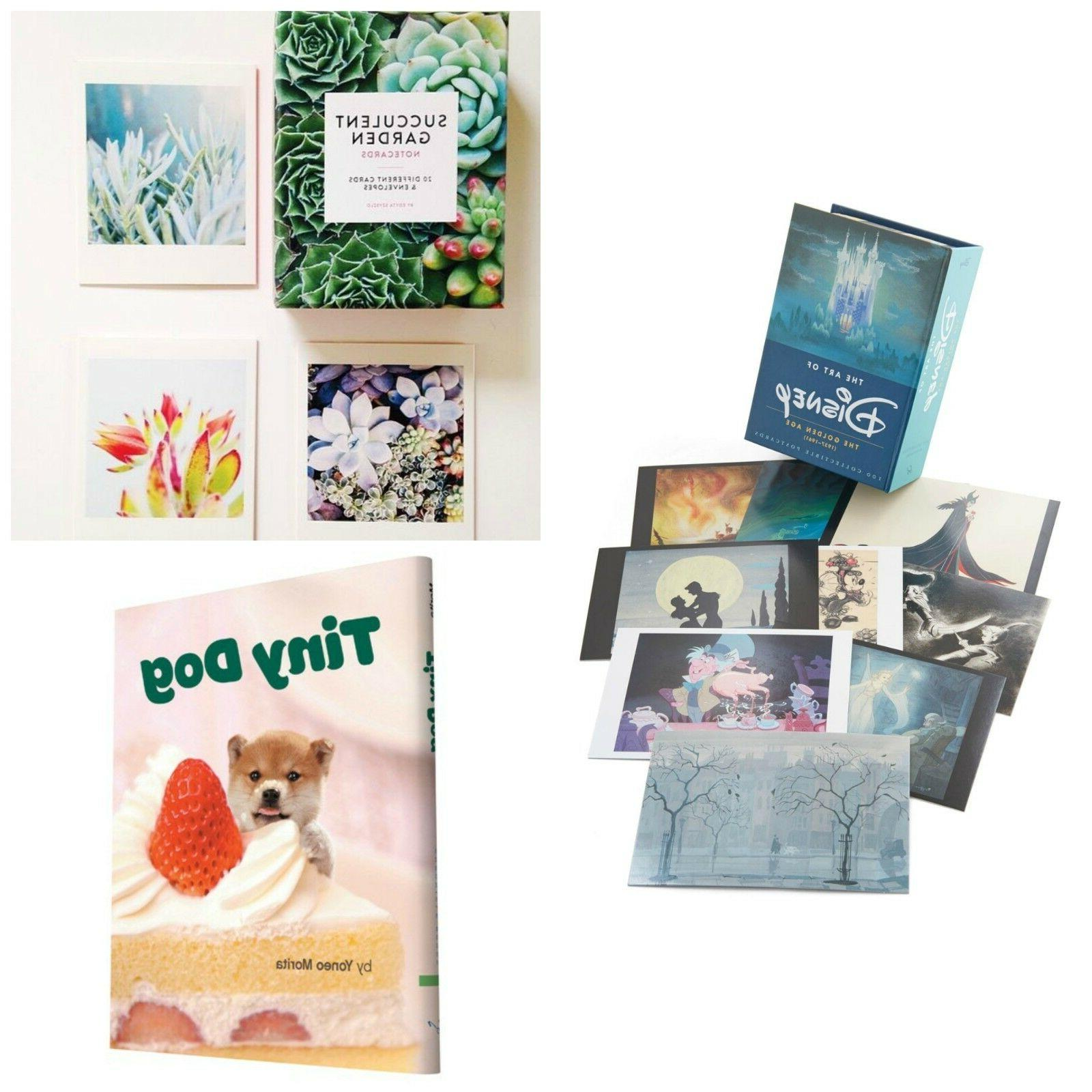notecards postcards or books