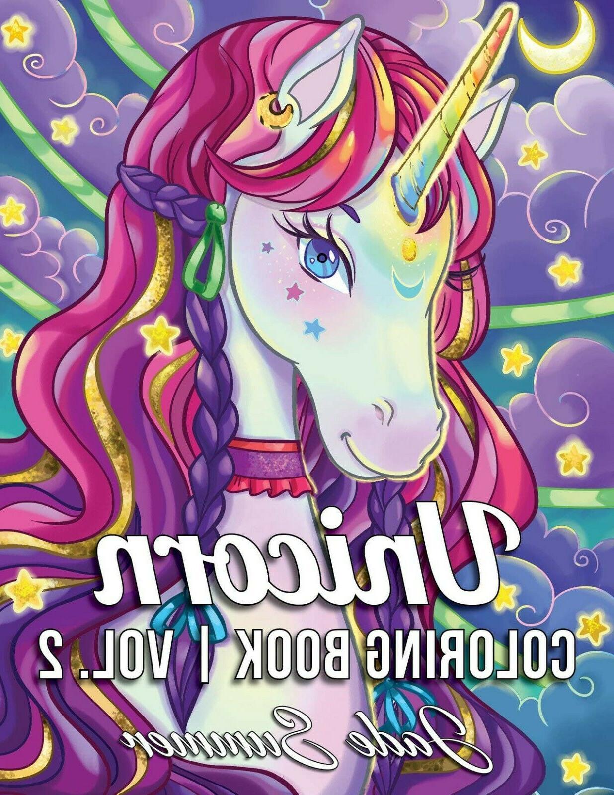 unicorn coloring book a fantasy coloring book