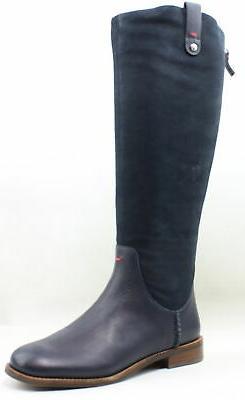 Ellen Degeneres Womens Lagoon Blue Riding Boots Size 6