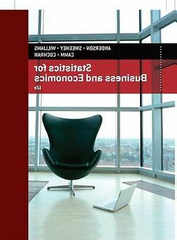 Statistics for Business and Economics by James J. Cochran, D
